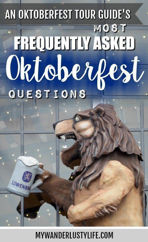 An Oktoberfest Tour Guide's Most Frequently Asked Oktoberfest Questions
