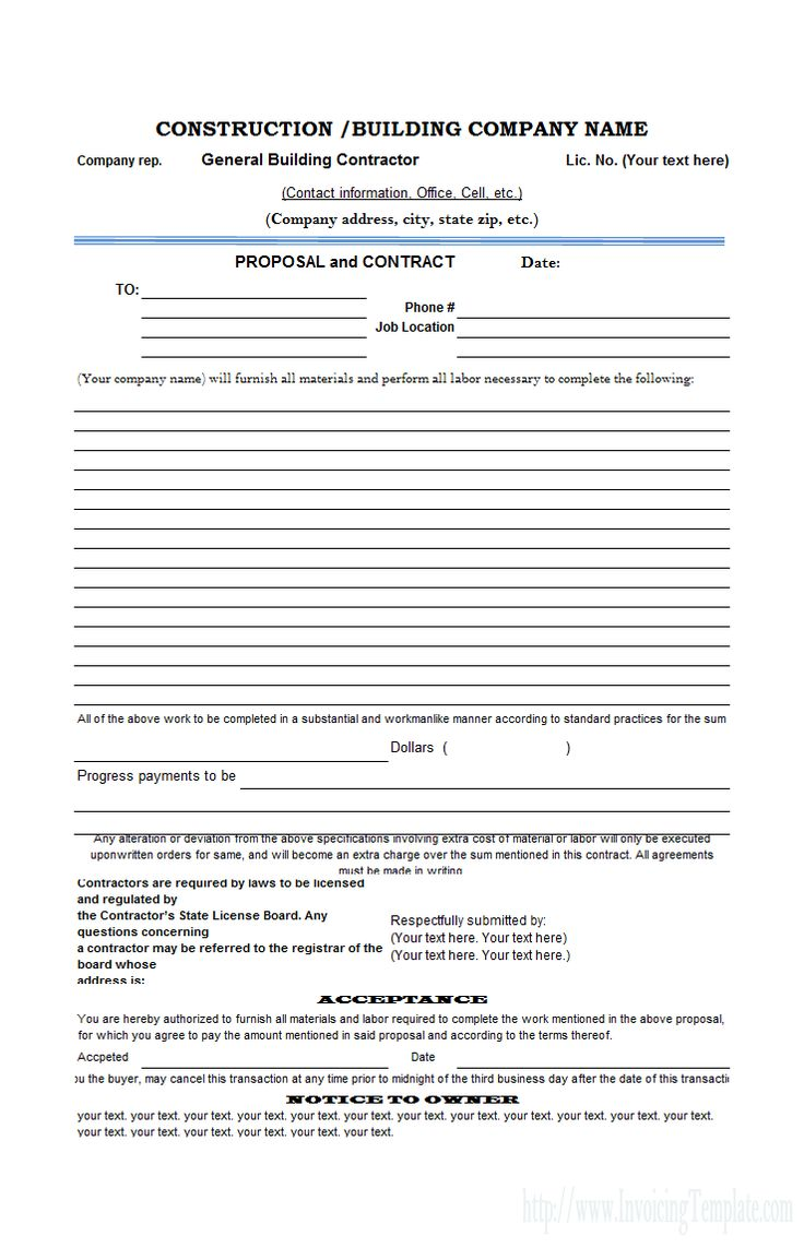Free Construction Proposal Template - construction proposal template