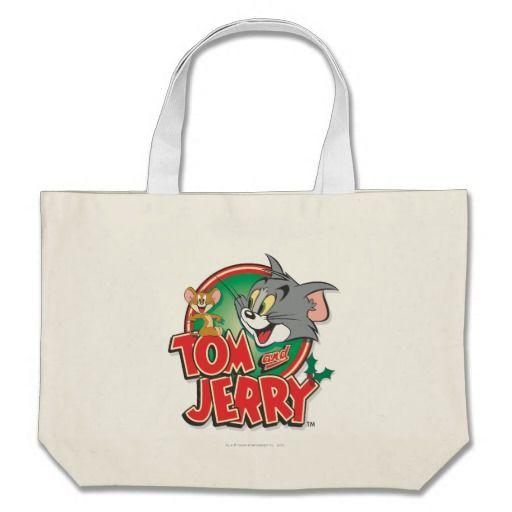 Logotipo de la obra clásica de Tom y Jerry. Regalos, Gifts. #bolso #bag