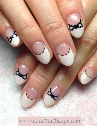 Sawing Ribbon French Nails by CuteNailDesigns from Nail Art Gallery