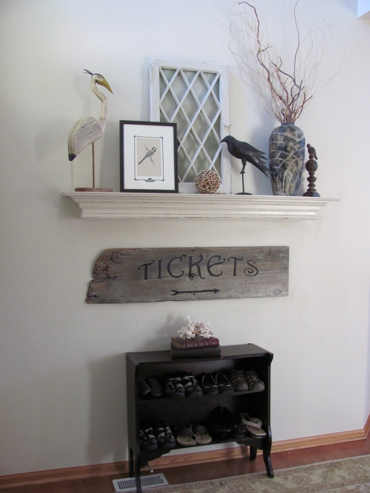 A Mantel To Decorate And Change Up With Decor But Without Fireplace