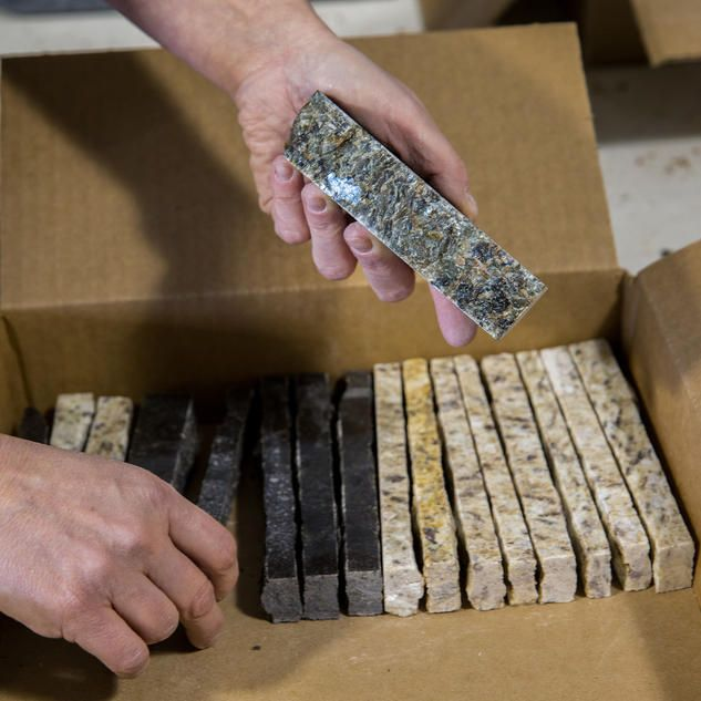 Recycled Granite turns granite scraps into a recycling business - Blue Sky Innovation - saves tons of granite countertop scraps from the trash heap and instead turns them into new products people can use
