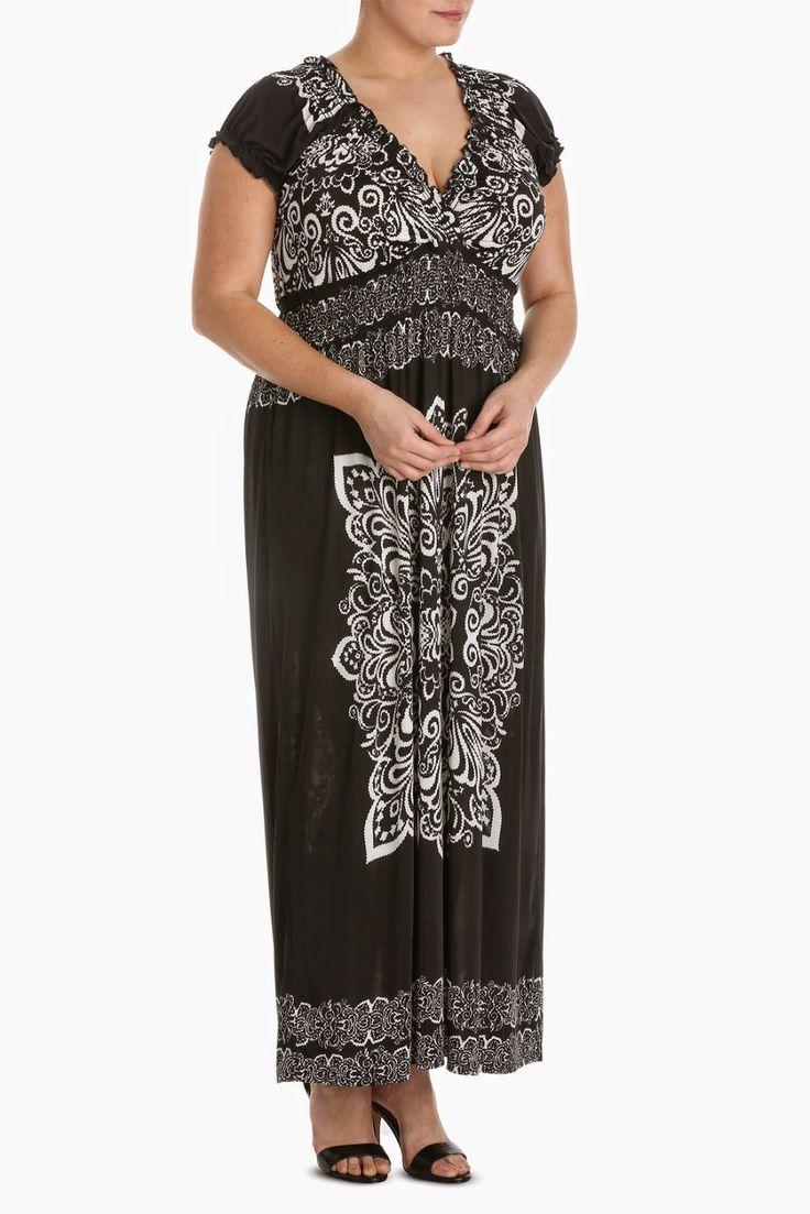 etnik desenli büyük beden elbise