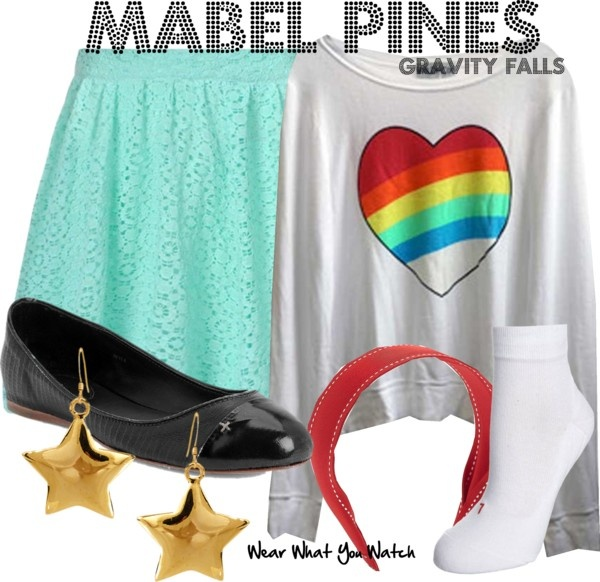 Inspired by animated character Mabel Pines on Disney's Gravity Falls.