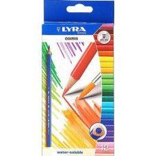 Lyra Osiris 12 darabos víz-oldható háromszög alakú színes ceruza készlet…