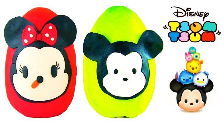 Disney Tsum Tsum Oyun Hamuru 2 DEV Sürpriz Yumurta Açma Shopkins Frozen ...
