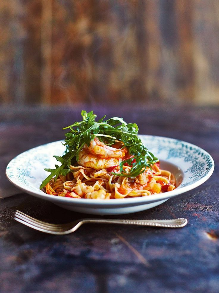 Prawn linguine by Jamie Oliver