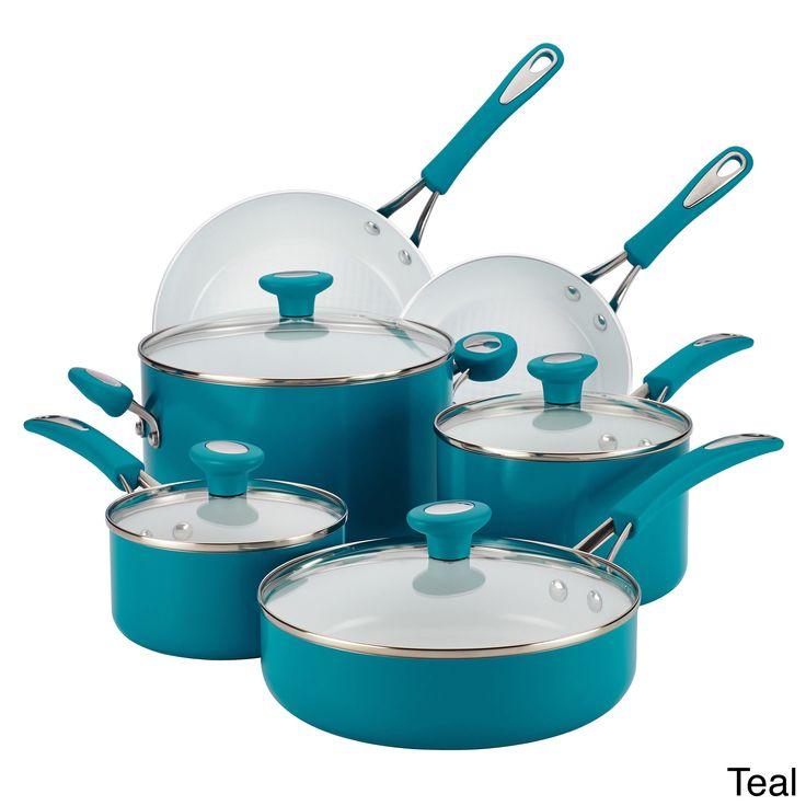 SilverStone Ceramic CXi Nonstick 12-piece Cookware Set (Teal), Blue (Aluminum)