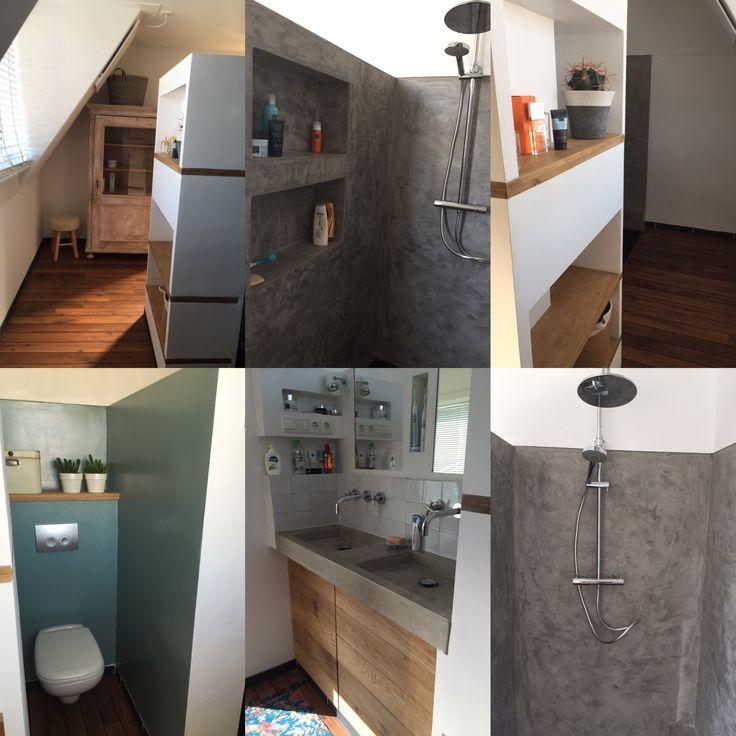 #bathroom #beton #wastafel #betonciré #eigenontwerp #trots #vakjes  wastafel van #Marcolina