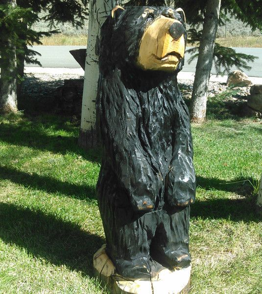 Chainsaw Carving, Chainsaw Carved Bear - bear carvings, wood bear, wooden bear, carved bear, cabin art, cabin decor, wood carving, woodZwayz MADE TO ORDER - several size and color options, specify in