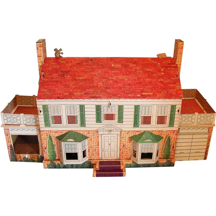 New Modern Home Cardboard Dollhouse With 7 Rooms Garage By