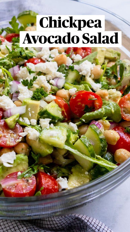 Best Salad Recipes, Salad Recipes For Dinner, Veggie Recipes, Lunch Recipes, Whole Food Recipes, Vegetarian Recipes, Broccoli Recipes, Healthy Avocado Recipes, Simple Salad Recipes