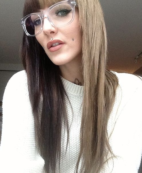 Half Brown Half Blonde Hair Hair Pinterest