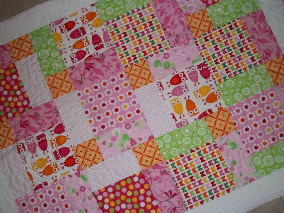 Free Nine Block Quilt Patterns | Owl, Magic 9 Block Baby Quilt Pattern Tutorial, pdf file with lots ...