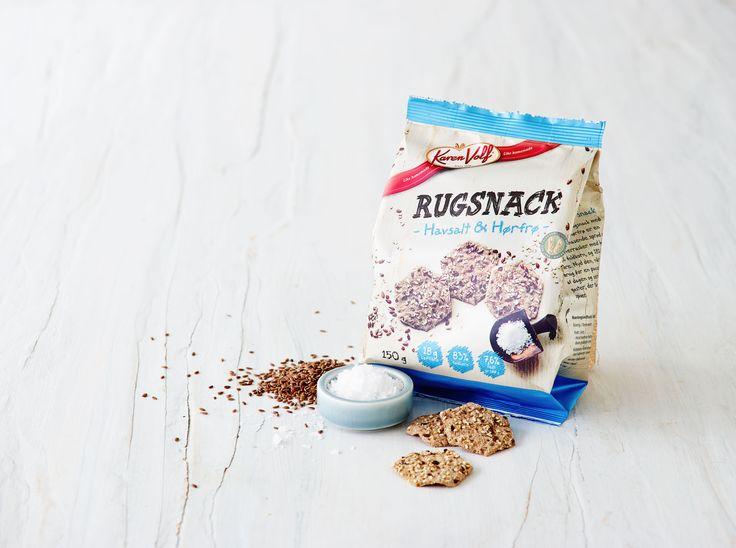 Vores rugsnacks med havsalt er mundrette bider til den lille sult #karenvolf #rugsnacks #madpakke #inspiration