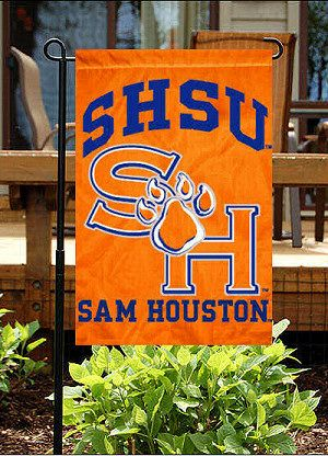 Sam Houston State University Garden Flag....possible grad school :) never imagined going to. Texas school but here I am excited
