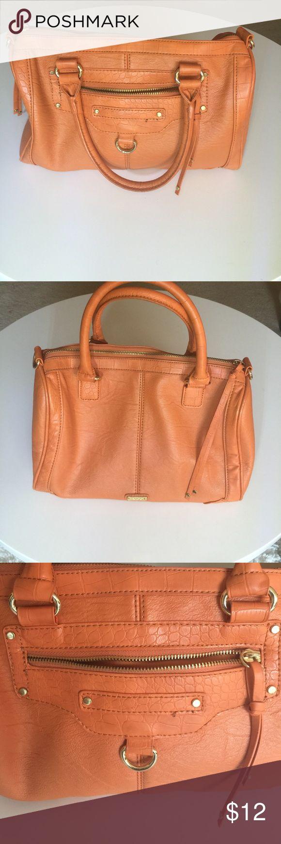Aldo Purse Orange satchel, that can be worn as a cross body. Strap is detachable. In good condition. Aldo Bags Satchels