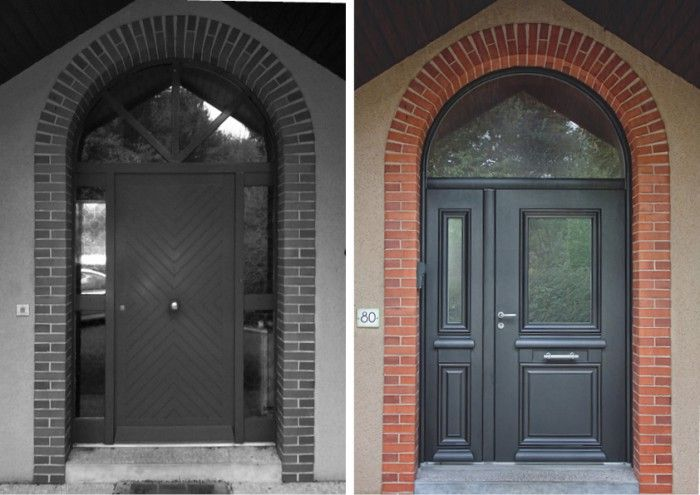37 best une porte d 39 entree pour la maison images on pinterest the doors facades and french doors. Black Bedroom Furniture Sets. Home Design Ideas