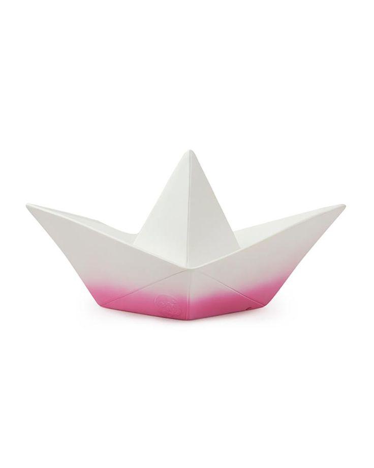 Lampada Barchetta Origami – Magenta Dip Dye – Basso Consumo Energetico!|-|Cameretta Bambini