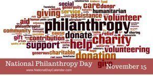 National Philanthropy Day - November 15