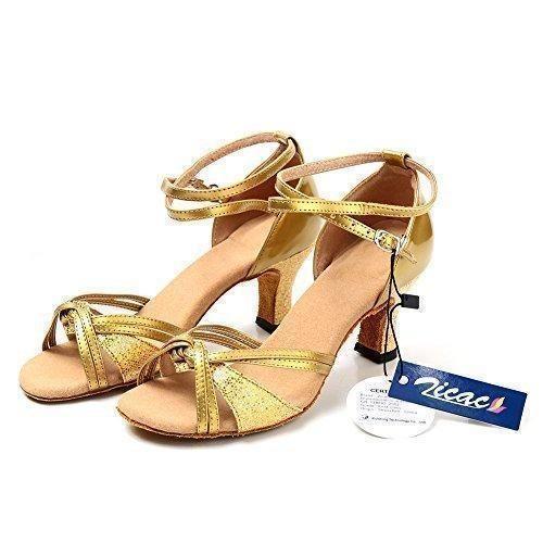 Oferta: 19.74€. Comprar Ofertas de Zicac-2015 Nuevo de las Mujeres de Moda Salsa Tango Zapatos de Baile Latino Sandalias (37T, dorado) barato. ¡Mira las ofertas!