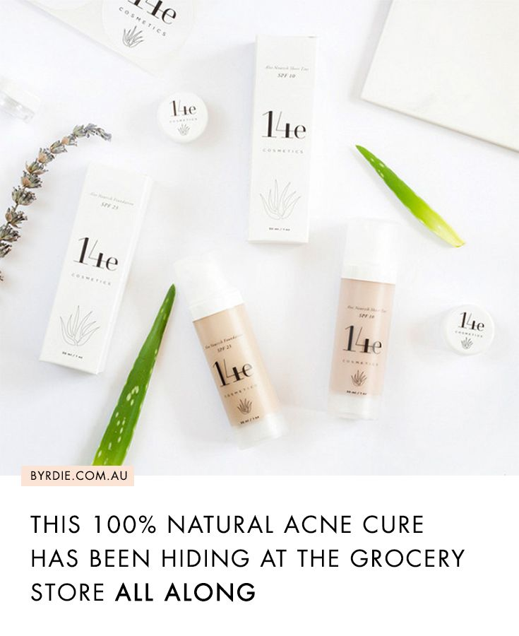 Natural organic acne and pimple cure 14e makeup products
