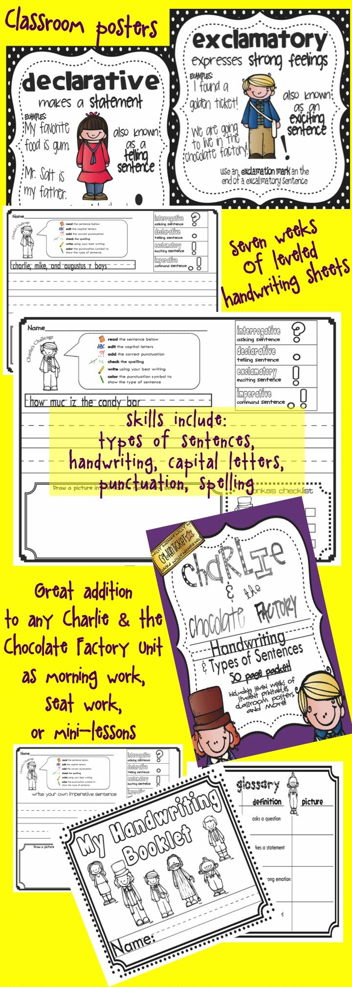 best images about charlie and the chocolate factory ccgps ela having a difficult time teaching declarative interrogative imperative and exclamatory sentences to your