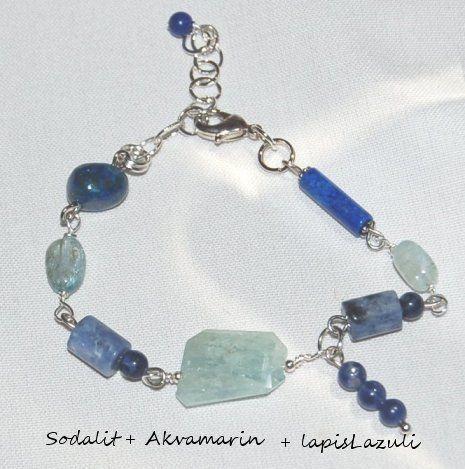 "Armband med Akvamarin - ""stressless"""