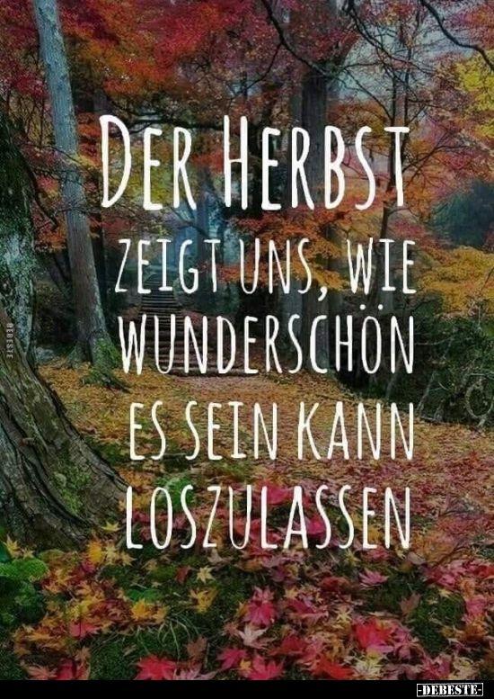 Der Herbst zeigt uns, wie schön es sein kann.   – Kitsch