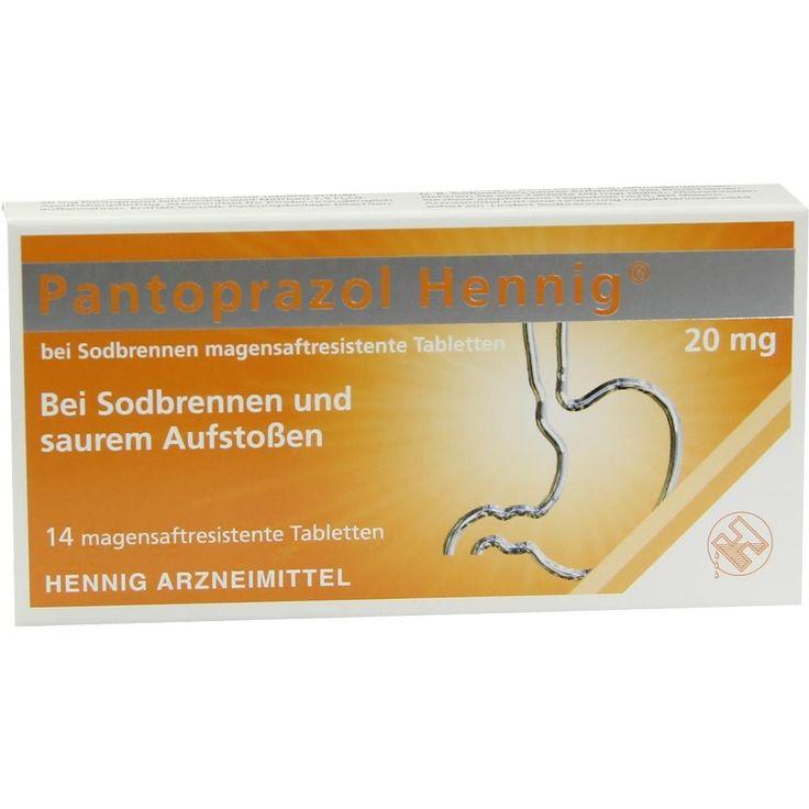 PANTOPRAZOL Hennig b.Sodbrennen 20 mg msr.Tabletten:   Packungsinhalt: 14 St Tabletten magensaftresistent PZN: 08439988 Hersteller:…