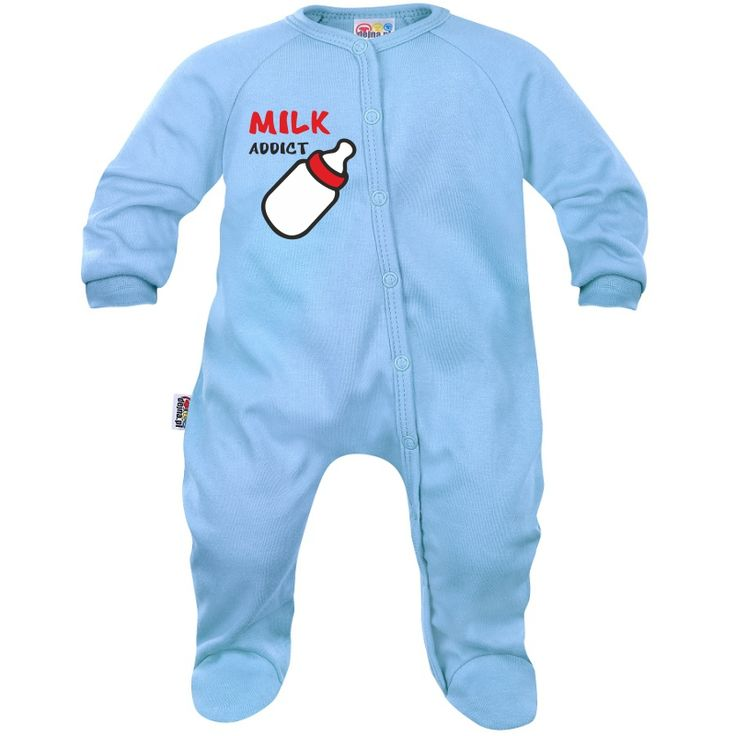 Pyjama bébé humour : MILK ADDICT