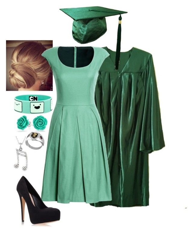 """""""Graduation"""" by amberwazhere ❤ liked on Polyvore featuring Canvas by Lands' End, Carvela Kurt Geiger, Hot Topic and Bling Jewelry"""