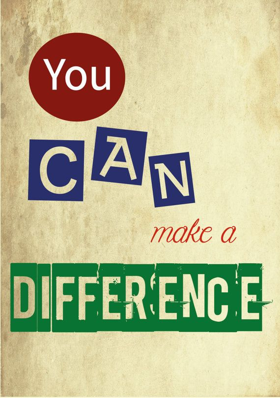 Poster You can make a difference di BBreeDesign su Etsy, €1.00