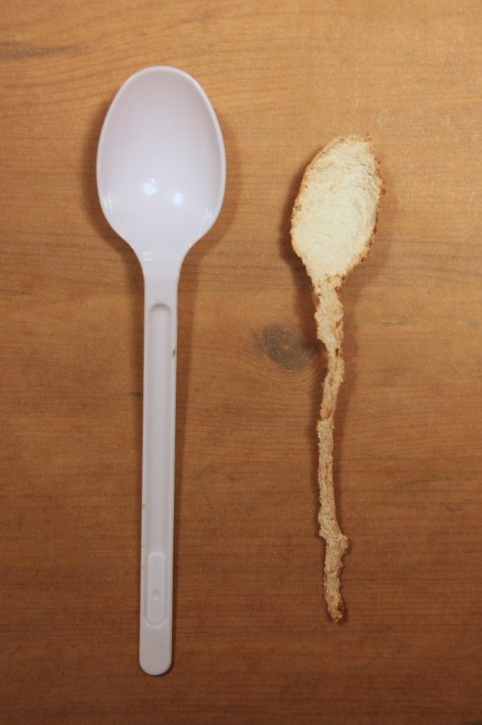Maurizio Montalti - Officina Corpuscoli - degradation of a plastic spoon