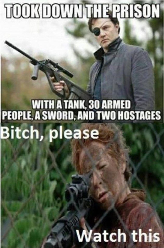 The Walking Dead' has been pretty badass thus far and we're only two episodes into season 5, but there has already been plenty of fodder for the fans to make some hilarious memes. Description from banana1015.com. I searched for this on bing.com/images