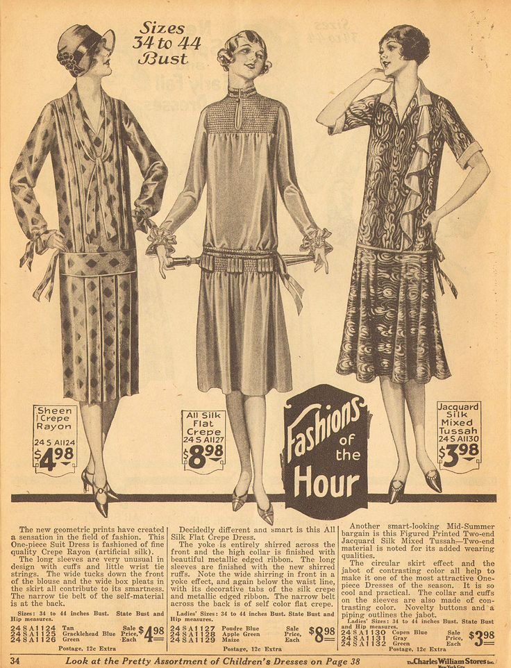 1926 a transition year between the long tube dress and the slightly shorter layered skirt dress.  http://www.vintagedancer.com/1920s/1920s-day-dresses/