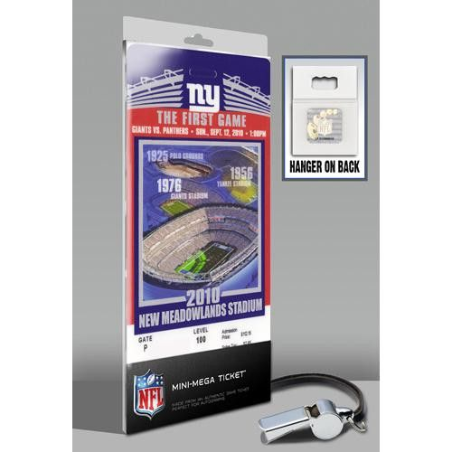 New York Giants Inaugural Game at New Meadowlands Stadium Mini-Mega Ticket