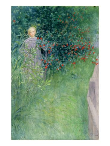 In the Holly Hedge by Carl Larsson. Giclee print from Art.com.