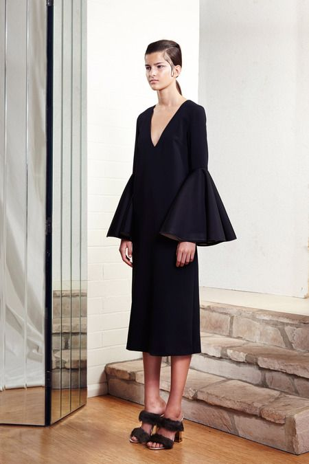I would belt this, hem it a little shorter (cause i am so short). The sleeves wins it for me. / Ellery