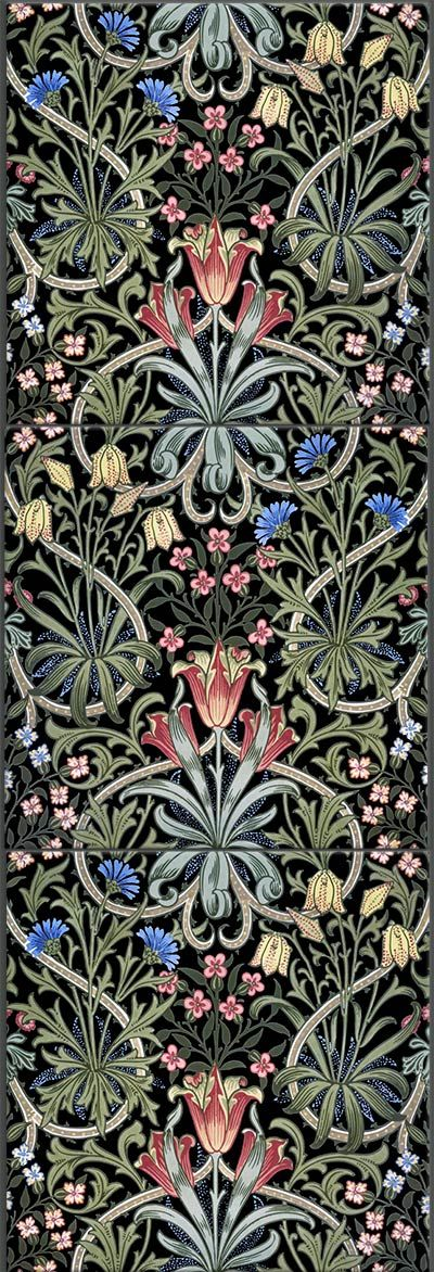 William Morris Woodland Weeds reproduction tile.