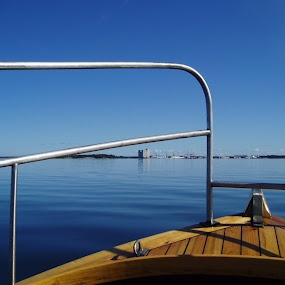wooden boat, in the archipelago of Rauma Finland