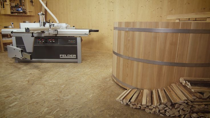 DIY - wooden bathtub with our Felder woodworking machines.   https://www.youtube.com/watch?v=JJI9iojqCdo #woodworking #woodworkingmachines #woodworkingprojects #woodworkingproducts #Felder #FelderGroup