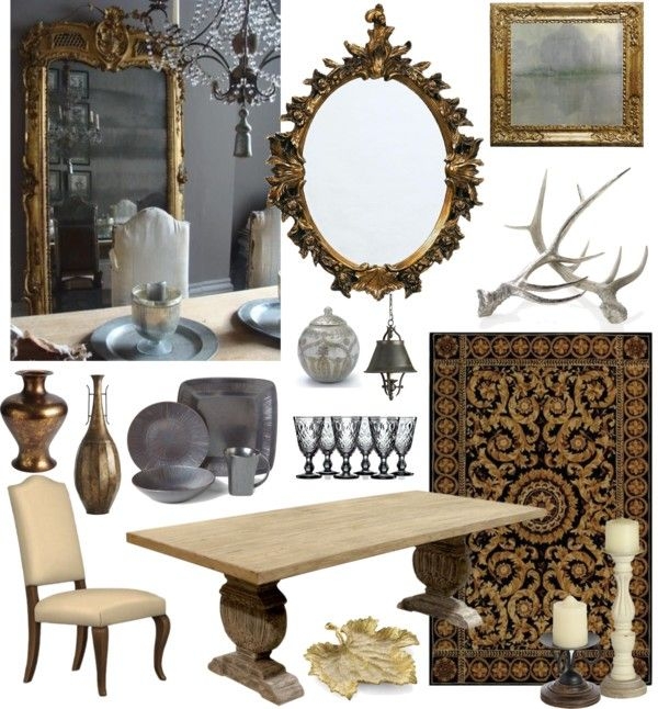 Grey And Gold By Ladomna On Polyvore