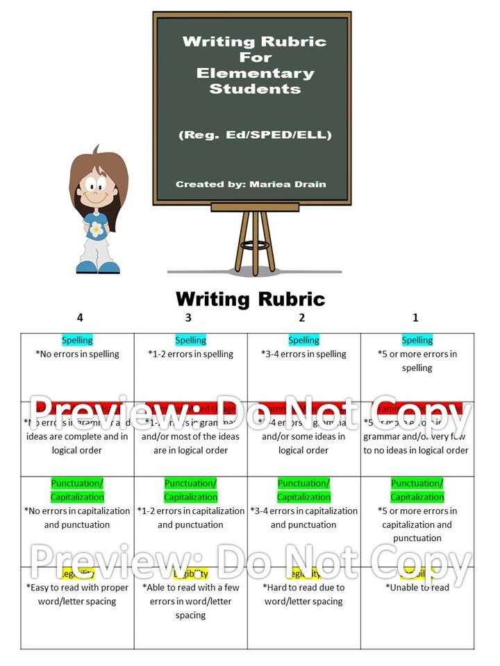 act writing rubrics Free reading and writing rubrics for teachers, for use in the classroom and home school.