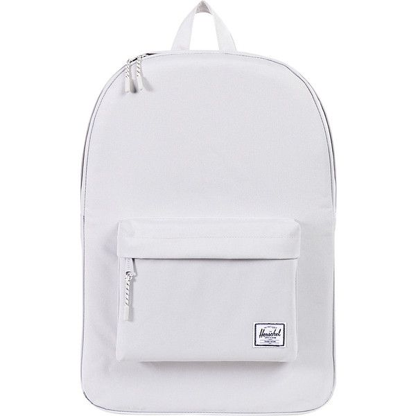 Herschel Supply Co. Classic Backpack ($35) ❤ liked on Polyvore featuring bags, backpacks, grey, gray backpack, backpack bags, gray bag, grey bag and knapsack bag