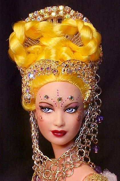 This gorgeous  ooak barbie is made by rjbour or also known as Joe Bourland, who has won many prizes already. She comes with stand and COA and her clothers are not removable.