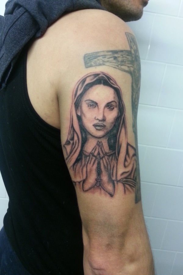 50 Arresting Religious Tattoo Sleeves