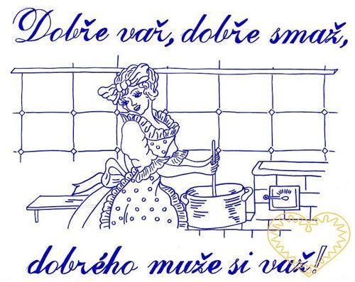 Nástěnná textilní kuchařka - Dobře vař