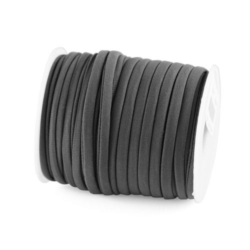 EL1005 - Elastisch Lint Ibiza 5mm wraparmbanden DIY ibiza armband Modi armbanden antraciet