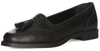 $75, Black Leather Loafers by Dorothy Perkins. Sold by Dorothy Perkins. Click for more info: http://lookastic.com/women/shop_items/157455/redirect